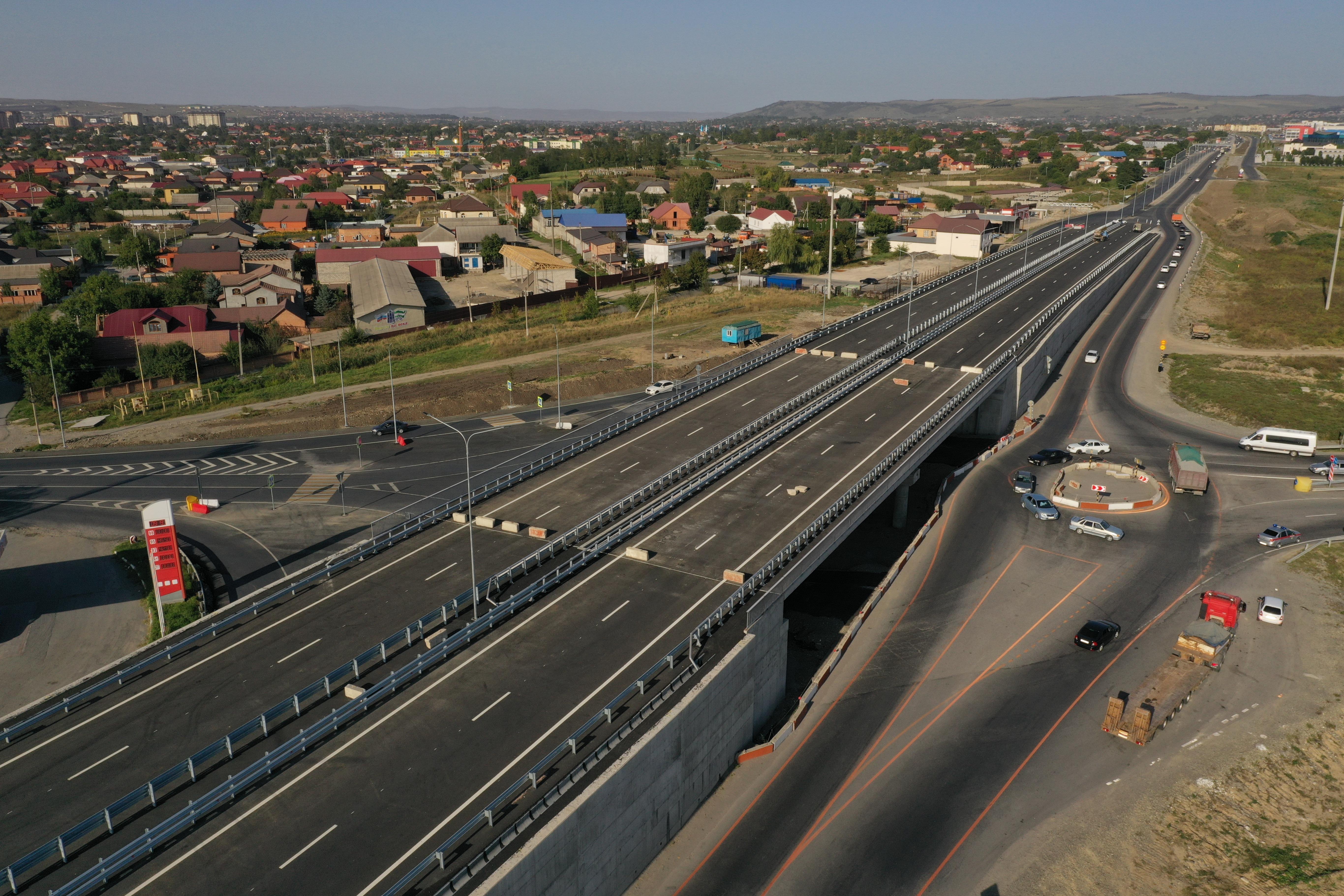 На загруженном участке дороги в Ингушетии построили транспортную развязку